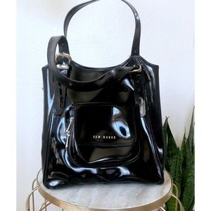 Ted Baker Black Latent Leather Shoulder Bag